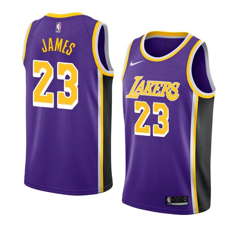 Regata Nba Los Angeles Lakers 2019 Nike Roxa Loja Eskanteio